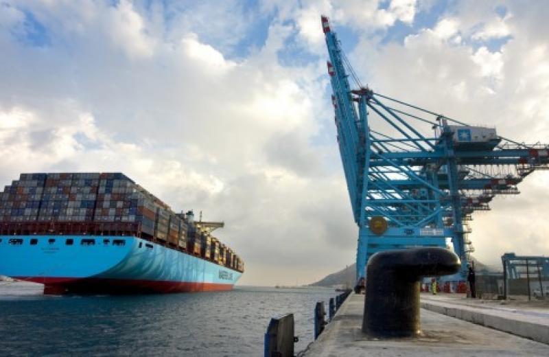 Maersk опубликовал отчет об объеме контейнерных перевозок