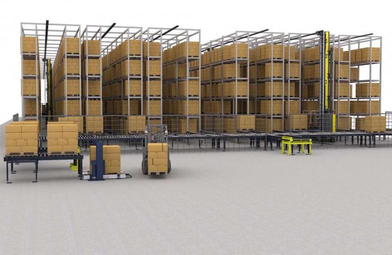 SSI Schaefer створила автоматизовану систему обробки товару для складів висотою до 13,5 м