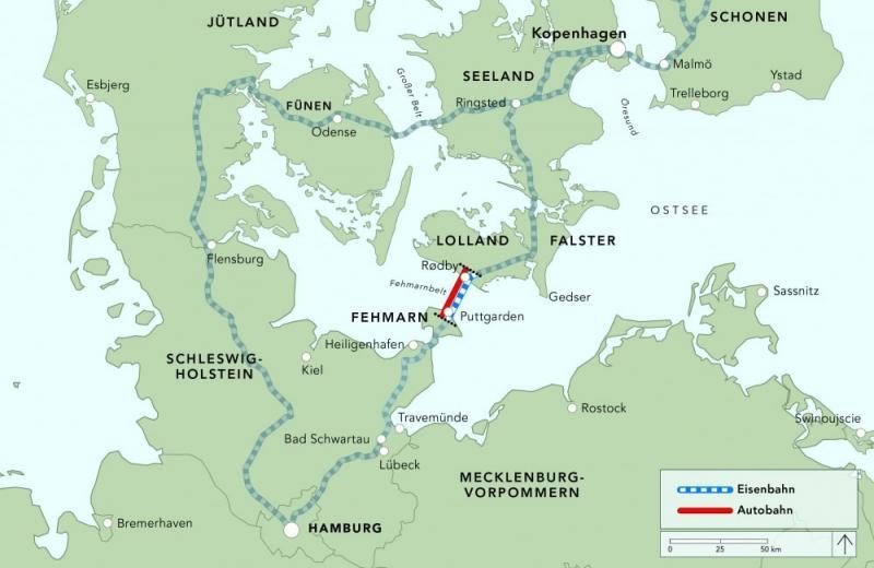 Між Німеччиною та Данією збудують перший у світі підводний тунель змішаного типу