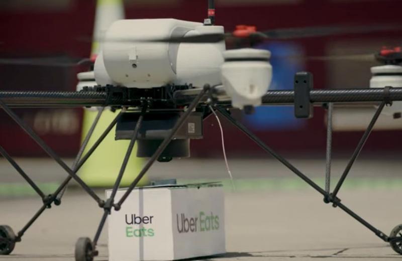 Uber расширяет проект доставки еды на дронах