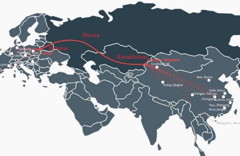 Євразійський залізничний альянс перевіз півмільйона контейнерів на Новому Шовковому шляху