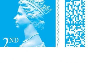 Британська Королівська пошта додає штрих-коди до своїх поштових марок