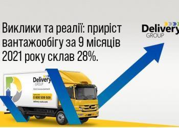 Приріст вантажообігу Delivery за 9 місяців 2021 року склав 28%