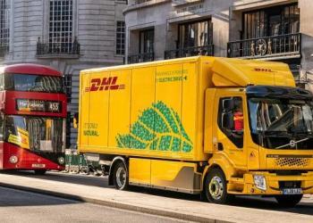 Компанія DHL випустила 16-тонну електровантажівку на вулиці Лондона