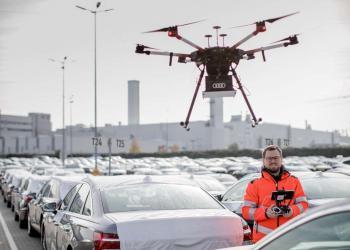Audi використовує дрони для пошуку потрібних авто на своїх складах