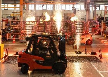Мільйонний контрбалансний навантажувач Linde було випущено на заводі в Ашафенбурзі