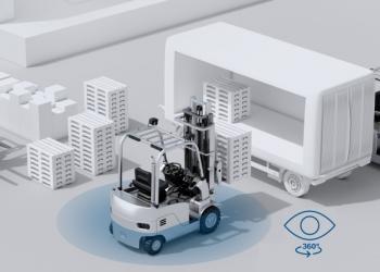 Мультикамерная система Bosch обеспечивает круговой обзор для погрузчиков