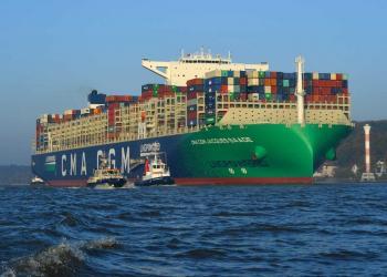 До Європи прибуло найбільше у світі контейнерне судно, що працює на СПГ