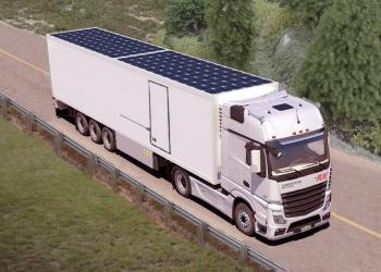В Германии предлагают обклеивать грузовики солнечными панелями. Что это даст?
