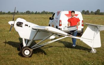 Уперше в Україні посилку доставили безпілотним літальним апаратом
