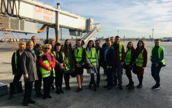 Екскурсія до МА «Бориспіль» в рамках Програми розвитку з логістики від ЕВА